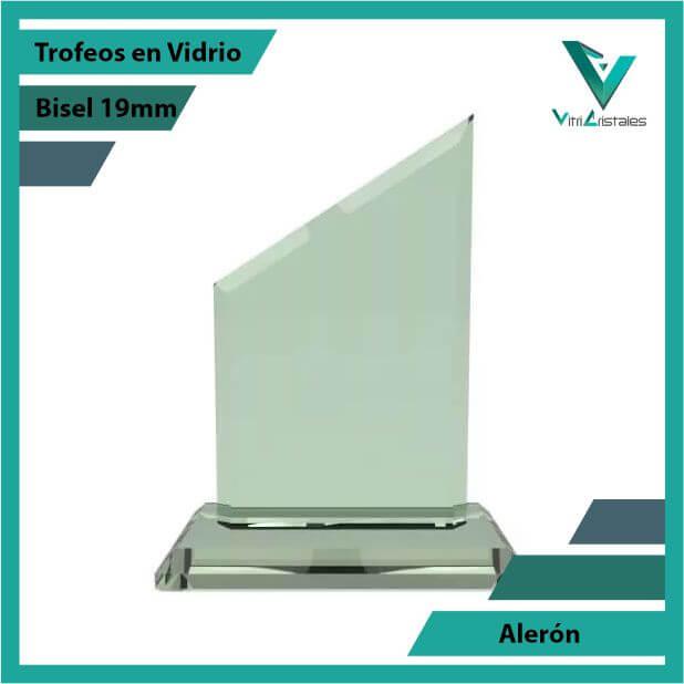 Trofeos en Vidrio Alerón en grabado laser