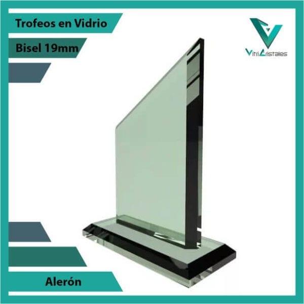 Trofeos en Vidrio Alerón personalizadas con grabado laser