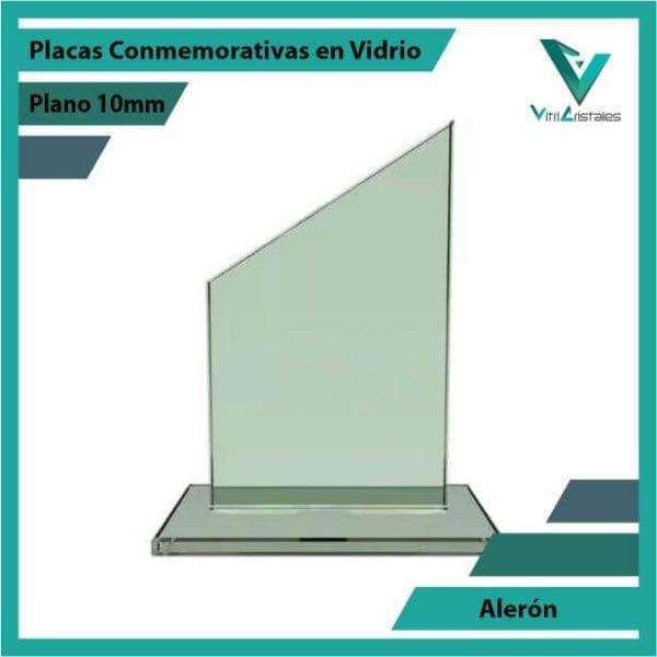 Placas Conmemorativas en Vidrio Alerónen grabado laser