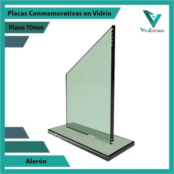 Placas Conmemorativas en Vidrio Alerón personalizada