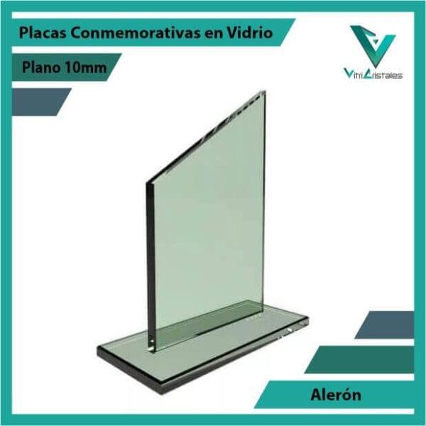Placas Conmemorativas en Vidrio Alerón personalizada con grabado laser