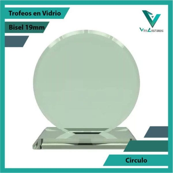 Trofeos en Vidrio Círculo en grabado laser