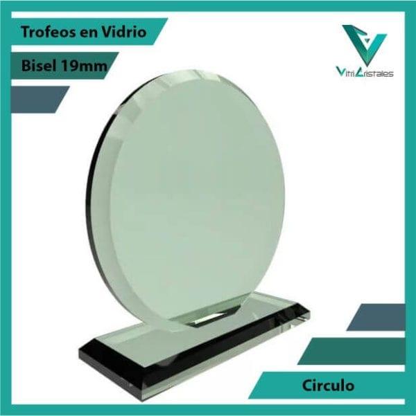 Trofeos en Vidrio Círculo personalizadas