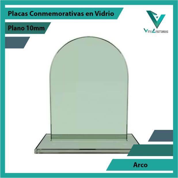 PLACAS CONMEMORATIVAS EN VIDRIO ARCO EN GRABADO LASER