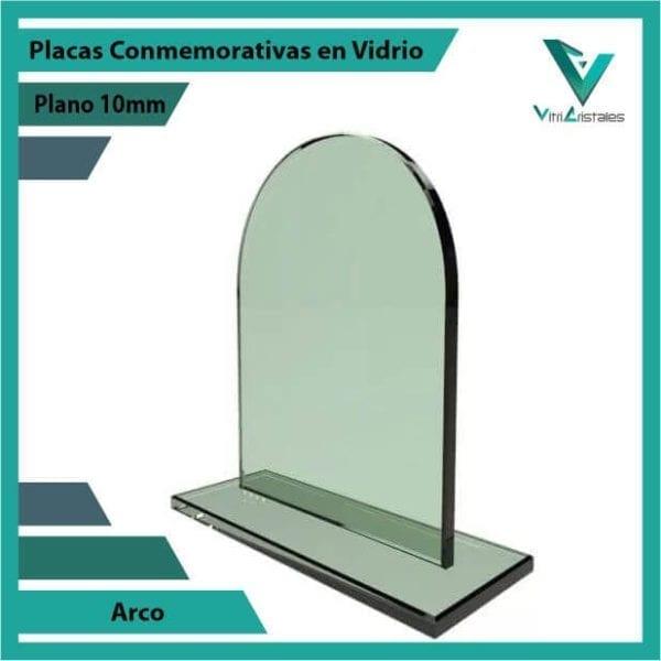 PLACAS CONMEMORATIVAS EN VIDRIO ARCO PERSONALIZADA CON GRABADO LASER