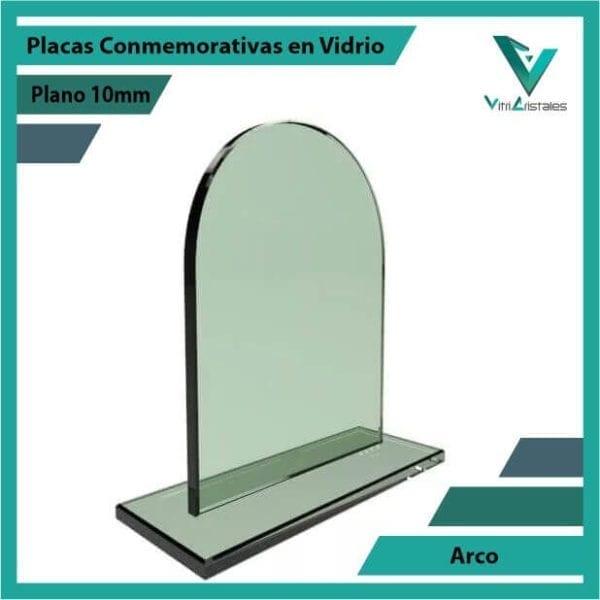 PLACAS CONMEMORATIVAS EN VIDRIO ARCO PERSONALIZADA