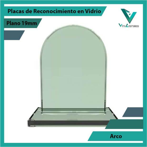 Placas de Reconocimiento en Vidrio Arco en grabado laser