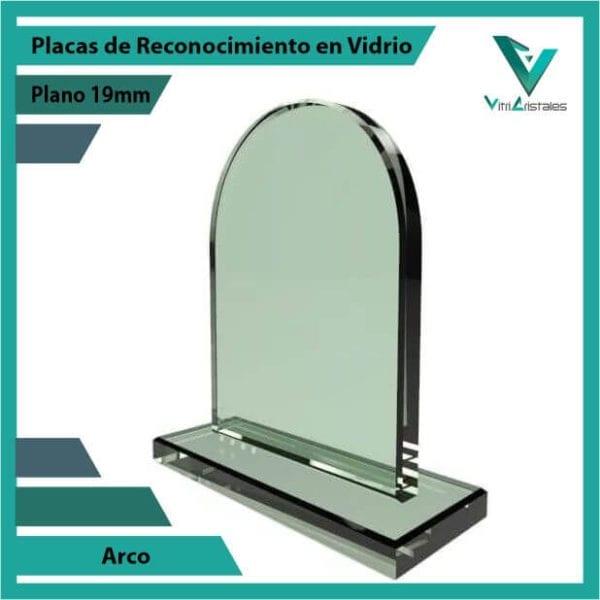 Placas de Reconocimiento en Vidrio Arco personalizada