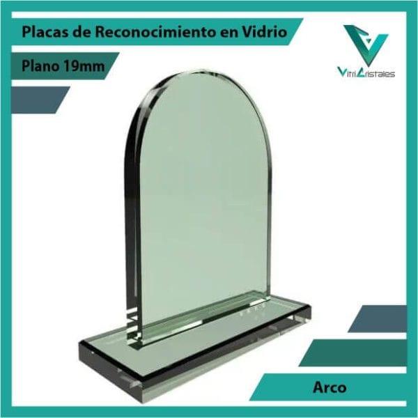 Placas de Reconocimiento en Vidrio Arco personalizada con grabado laser