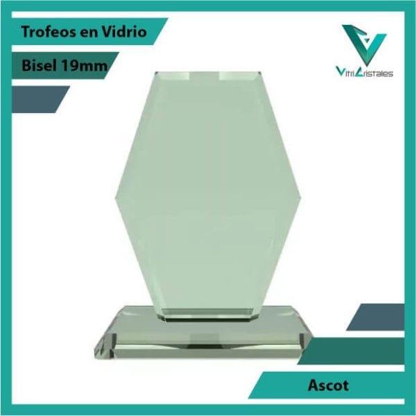Trofeos en Vidrio Ascot en grabado laser