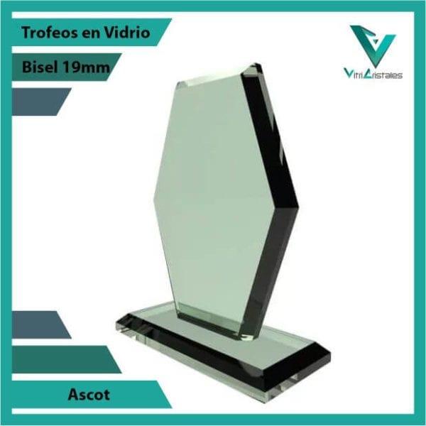 Trofeos en Vidrio Ascot personalizadas