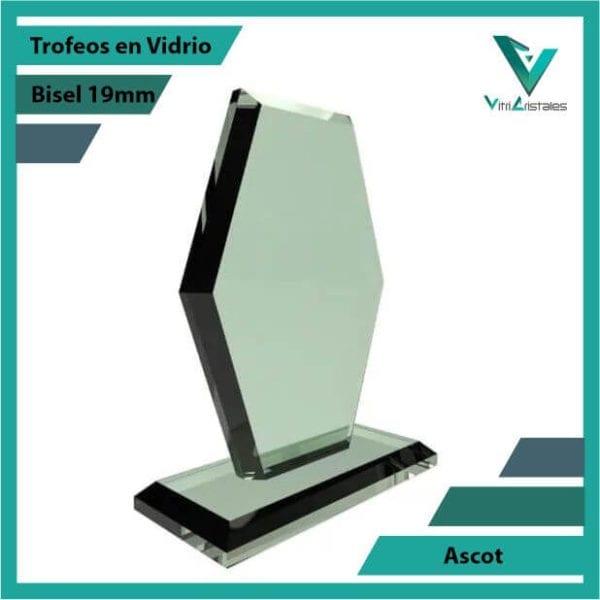 Trofeos en Vidrio Ascot personalizadas on grabado laser