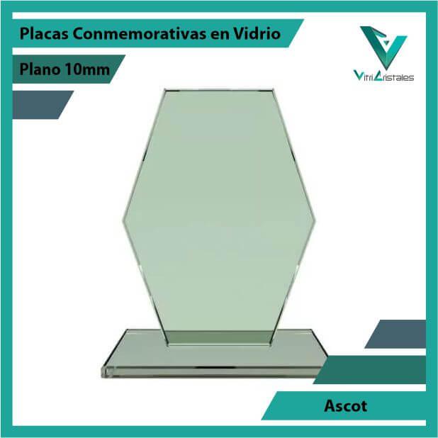 Placas Conmemorativas en Vidrio Ascot en grabado laser