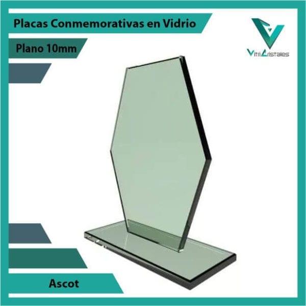Placas Conmemorativas en Vidrio Ascot personalizada