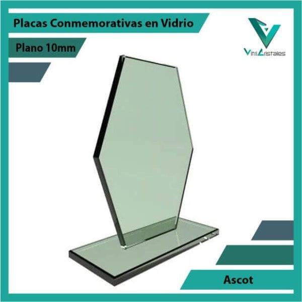 Placas Conmemorativas en Vidrio Ascot personalizada con grabado laser