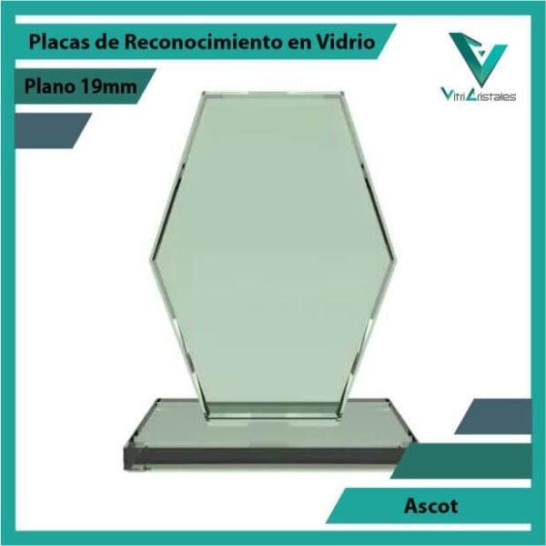 Placas de Reconocimiento en Vidrio Ascot en grabado laser