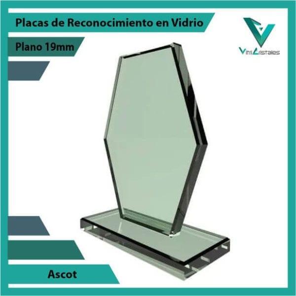 Placas de Reconocimiento en Vidrio Ascot personalizada