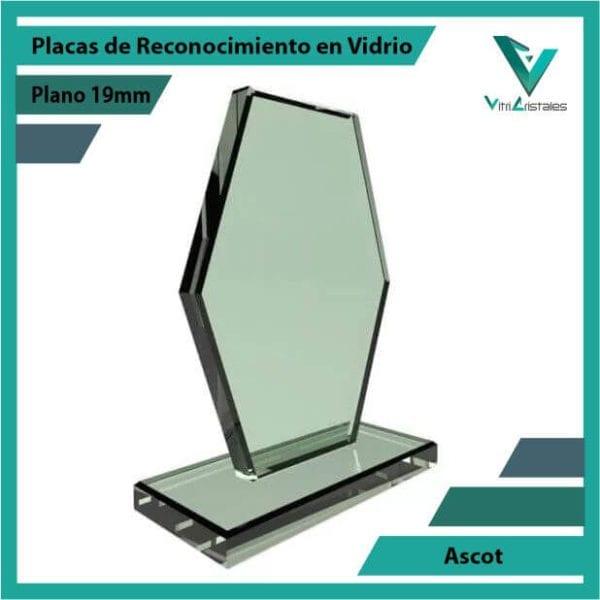 Placas de Reconocimiento en Vidrio Ascot personalizada con grabado laser