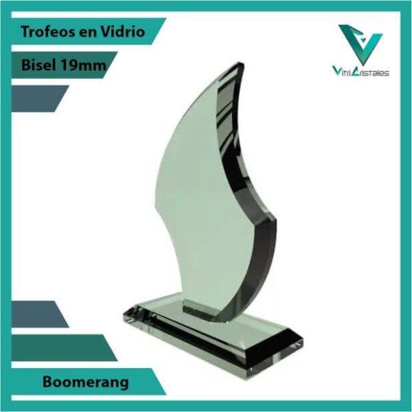 Trofeos en Vidrio Boomerang personalizadas