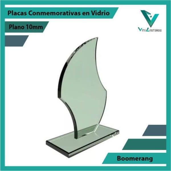 Placas Conmemorativas en Vidrio Boomerang personalizada