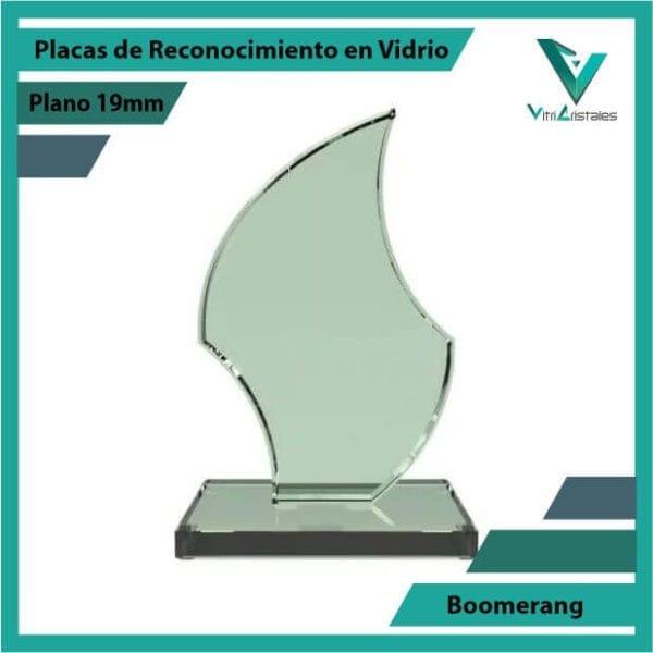 Placas de Reconocimiento en Vidrio Boomerang en grabado laser