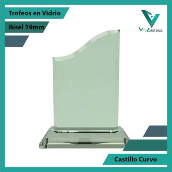 Trofeos en Vidrio Castillo Curvo en grabado laser