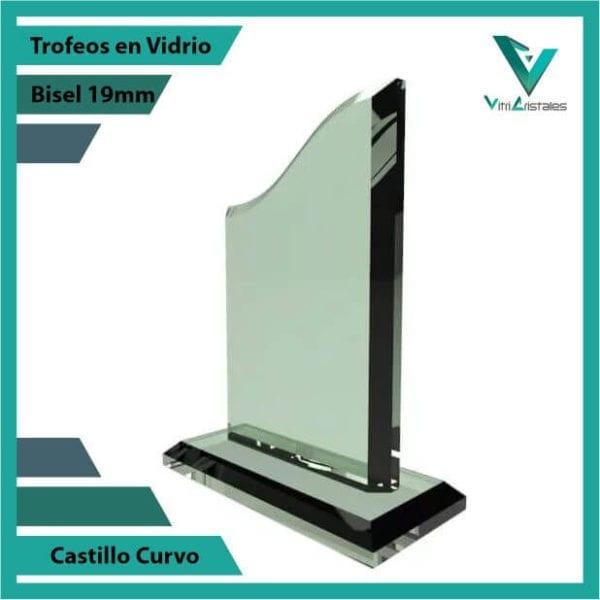 Trofeos en Vidrio Castillo Curvo personalizadas