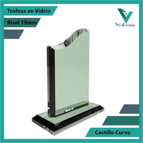 Trofeos en Vidrio Castillo Curvo personalizadas con grabado laser