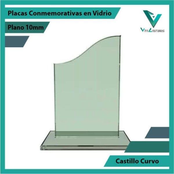 Placas Conmemorativas en Vidrio Castillo Curvo en grabado laser