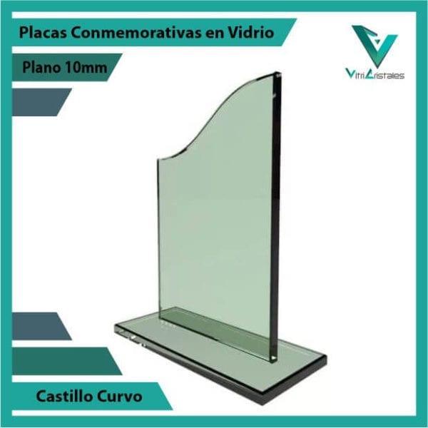 Placas Conmemorativas en Vidrio Castillo Curvo personalizada