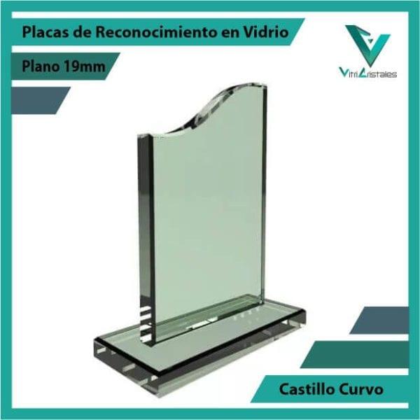 Placas de Reconocimiento en Vidrio Castillo Curvo personalizada