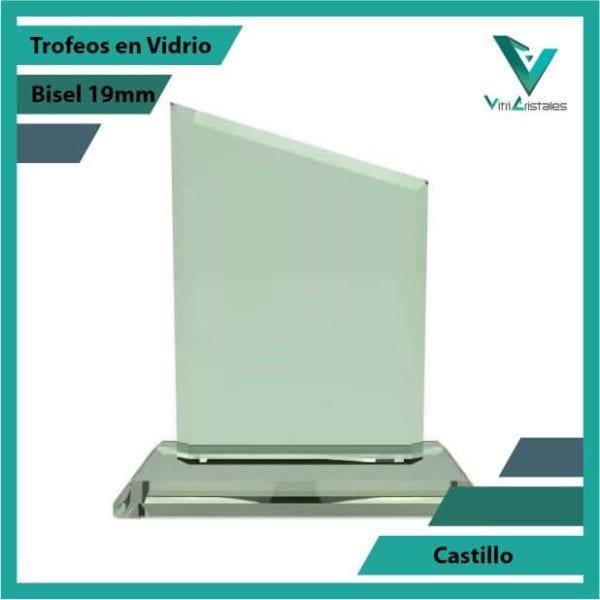 Trofeos en Vidrio Castilloen grabado laser