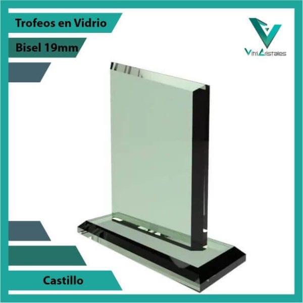 Trofeos en Vidrio Castillo personalizadas