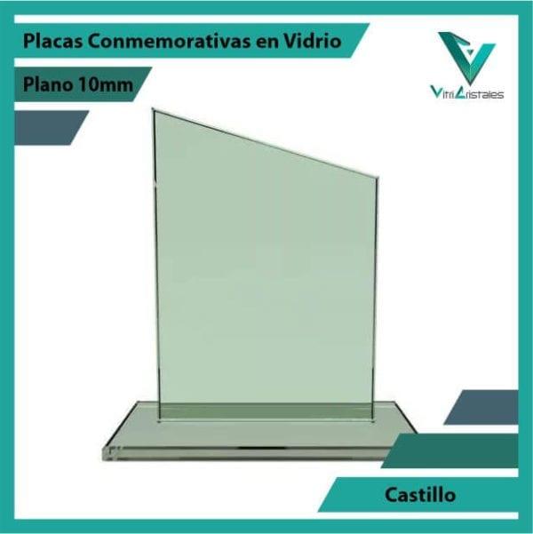Placas Conmemorativas en Vidrio Castillo en grabado laser