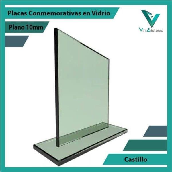 Placas Conmemorativas en Vidrio Castillo personalizada