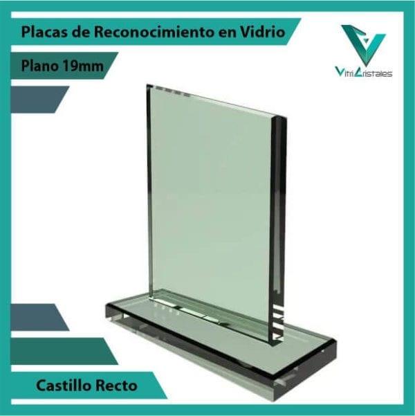 Placas de Reconocimiento en Vidrio Castillo personalizada