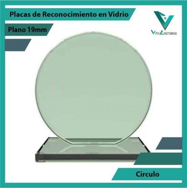 Placas de Reconocimiento en Vidrio Círculo en grabado laser