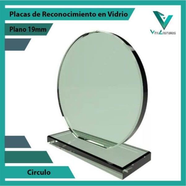 Placas de Reconocimiento en Vidrio Círculo personalizada
