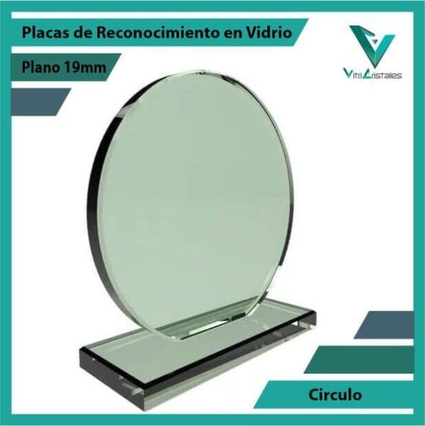 Placas de Reconocimiento en Vidrio Círculo personalizada con grabado laser