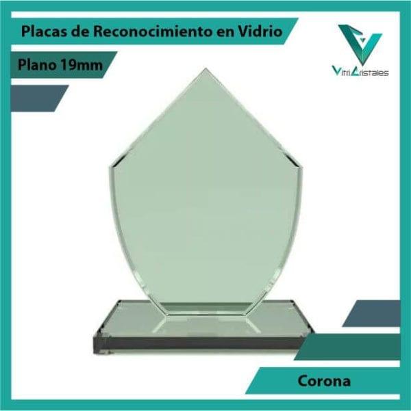 Placas de Reconocimiento en Vidrio Corona en grabado laser
