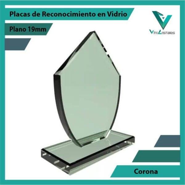 Placas de Reconocimiento en Vidrio Corona personalizada