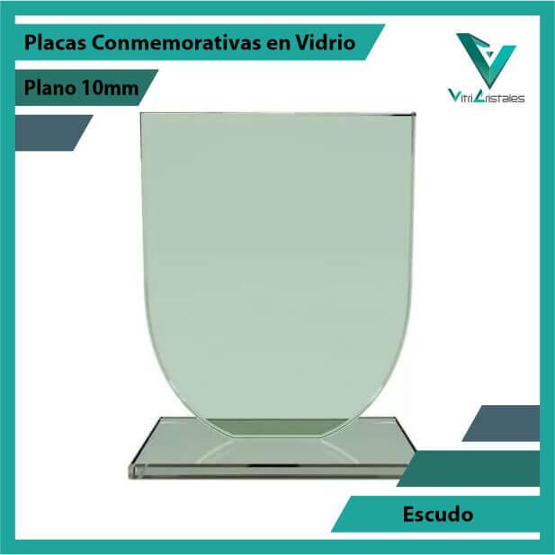 Placas Conmemorativas en Vidrio Escudo en grabado laser