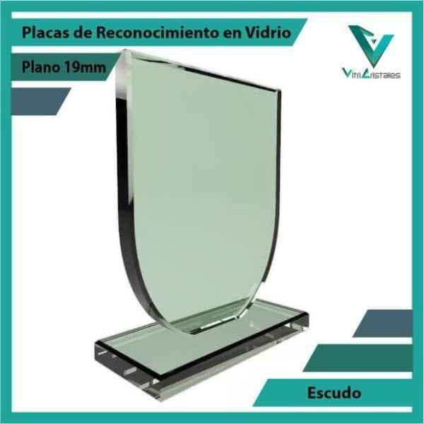 Placas de Reconocimiento en Vidrio Escudo personalizada con grabado laser