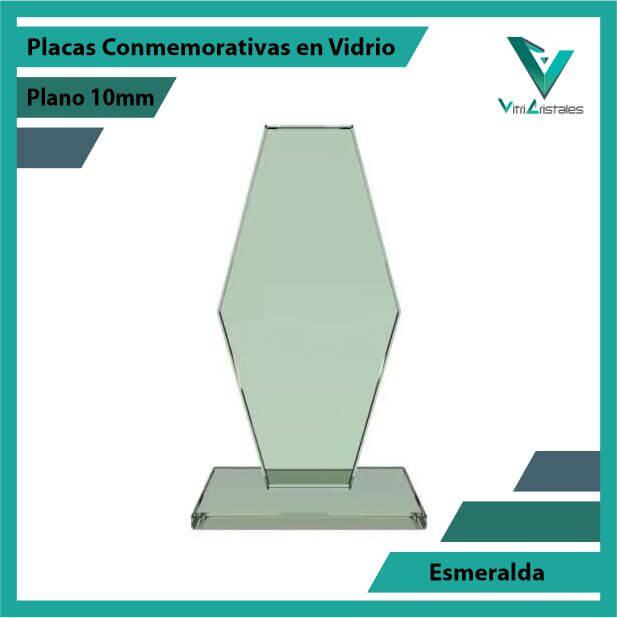 Placas Conmemorativas en Vidrio Esmeralda en grabado laser