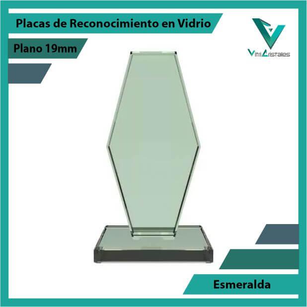 Placas de Reconocimiento en Vidrio Esmeralda en grabado laser