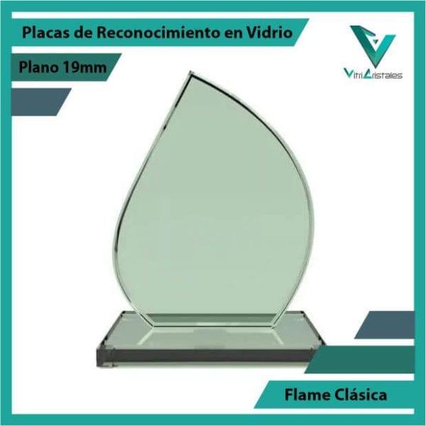 Placas de Reconocimiento en Vidrio Flame Clásica en grabado laser
