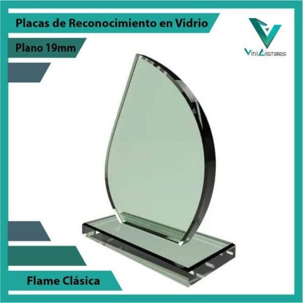 Placas de Reconocimiento en Vidrio Flame Clásica personalizada
