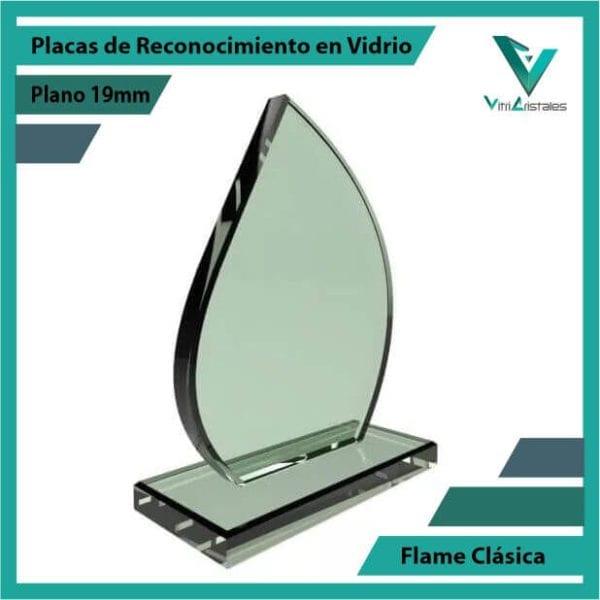 Placas de Reconocimiento en Vidrio Flame Clásica personalizada con grabado laser