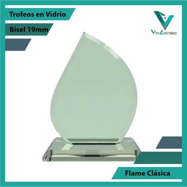 Trofeos en Vidrio Flame Clasica en grabado laser