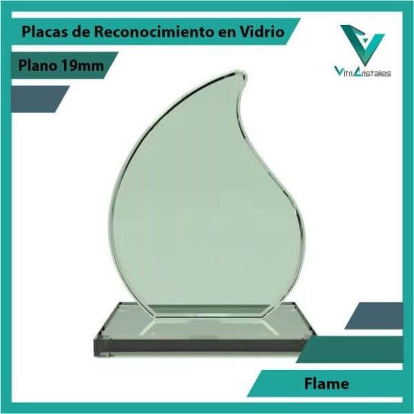 Placas de Reconocimiento en Vidrio Flame en grabado laser